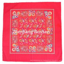 OEM Produce personalizado vermelho Paisley impresso cabeça de cabeça quente de algodão
