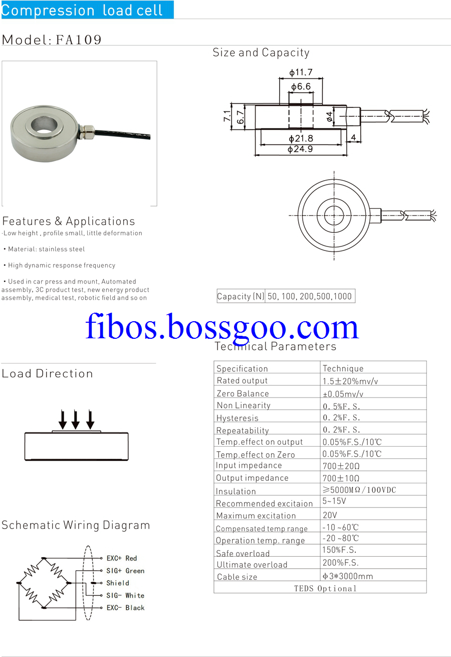 ring compression load cell 109C