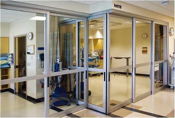 Interior Glass Door System for Hospitals