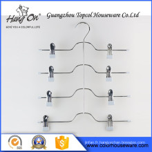 Hard Drawing purple clip Wire Hanger , Plastic Coated Wire Hanger Roll