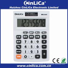 Timer de 8 dígitos e calculadora de taxa de câmbio para uso de escritório