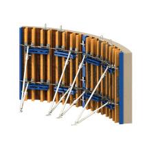 Adjustable Formwork for Plumbing and Bracing Wall