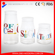 Beschichtung Glas Gläser und Deckel Großhandel Glas Lagerung Jar Set