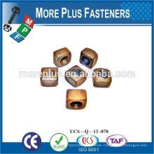 "Made in Taiwan Spring Lock Nut 3/8""-16 Grade A Zinc Finish Steel Regular Square Nut"