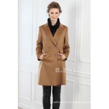 fábrica personalizada de lujo 100% cachemira mujer larga cachemira abrigos