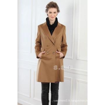 usine personnalisé luxe 100% cachemire femmes longues manteaux de cachemire