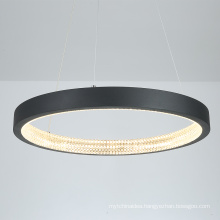 European Style Nordic Modern LED Hanging Ring Linear Led acrylic Lamps Hotel Dining Chandelier Luxury