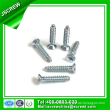 M2.3*12 Blue Zinc Plating Countersuk Self Tapping Screw