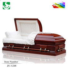 American style solid wood pink casket