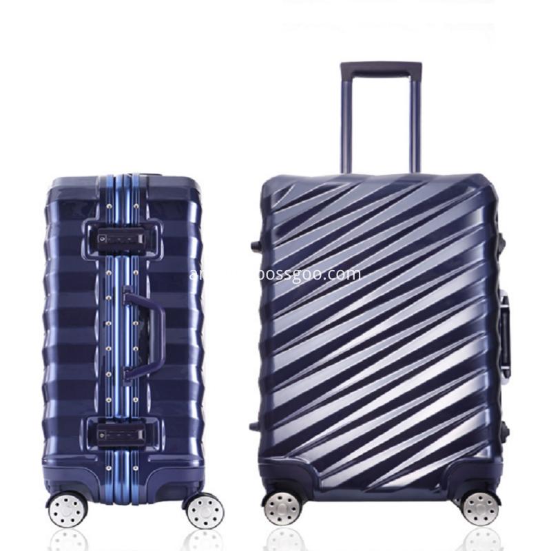 business aluminum frame luggage