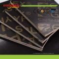 Uso de la construcción Black / Brown Film Faced Plywood 4X8 18mm
