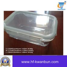Высококачественная прозрачная стеклянная коробка с пластиковой крышкой Kb-Jh06091