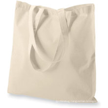 15 X 16 inch with long handle NATURAL Color 5.5 oz 100% cotton reusable grocery bags eco friendly