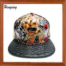 Изготовленный на заказ плоский и кожа поддонов и утюг патч snapback шляпы