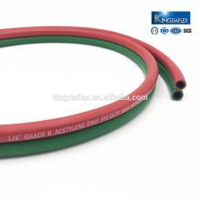 Циндао хорошее качество текстильной оплеткой гибкий резиновый шланг LPG сварки труб