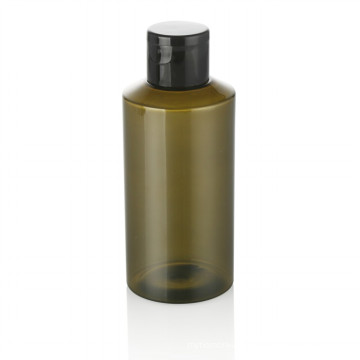 100ml green plastic pet bottle personal care plastic pet bottle with black plastic screw cap cosmetic container hot sale