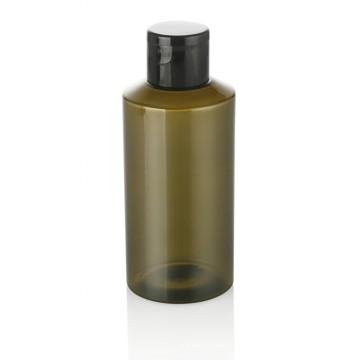 100 ml garrafa de plástico verde pet garrafa de plástico pet care cuidados pessoais com tampa de rosca de plástico preto recipiente cosmético venda quente