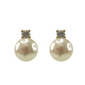 Fashion Jewelry Pearl stud Earrings with CZ
