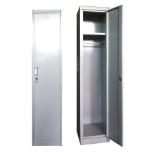 Bedroom furniture steel single door locker with mirror