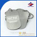 Factory custom design printing silver metal dog tag