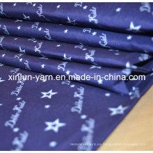 Tela de impresión de cortina de baño para uso doméstico con tipo de impresión en estrella