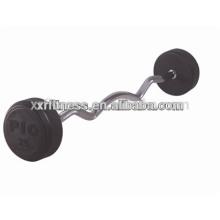 caoutchouc de gymnastique Barbell / Fixed Rubber Barbell