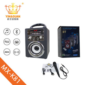 Tragbarer Karaoke-Wireless-Bluetooth-Lautsprecher SD / FM