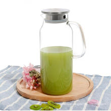 High Borosilicate Glass Beverage Kettles 2000ml for Homemade Juice Pot with Stainless Steel Lids