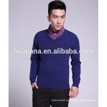 100% Kaschmir stricken Männer Korea Stil Pullover