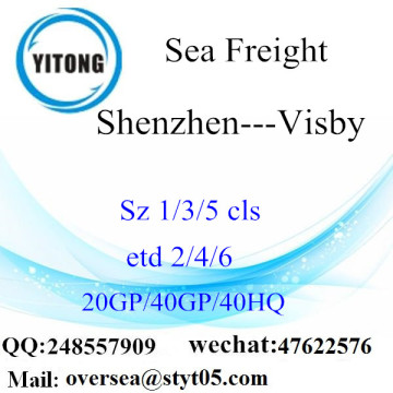 Shenzhen Port Sea Freight Shipping Para Visby