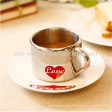 Amour tasses et tasses de café anamorphiques