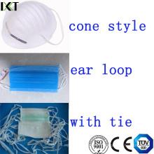Masque facial chirurgical prêt à fabriquer des boucles d'oreilles en forme de cône Kxt-FM01