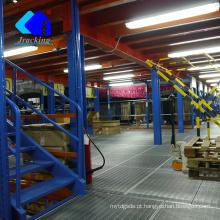 Racking armazenamento de alta densidade, jracking seletivo hardware plataforma de trabalho ao ar livre mezanino