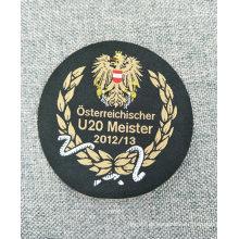 Logotipo tecido lavável do pano Sewn-na etiqueta do vestuário da impressão do tamanho da roupa