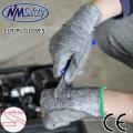 NMSAFETY 13 gauge pu cut work gloves pu palm cut proof gloves no-cut glove
