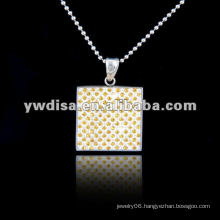 Fashion Stainless Steel Pendant For Women Stainless Steel Necklace Wholesale Girl's Pendant With Square Stainless Steel Charms