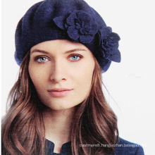 Womens Ladies Wool Warm Angora Winter Flowers Autumn Spring Cap Hat Beret (HW810)