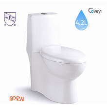 Easy Cleaning Ceramic Sanitary Ware Siphonic One-Piece Toilet with Cupc (A-JX841)