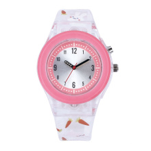 Colorful plastic case strap number dial promotion kid's gift watch
