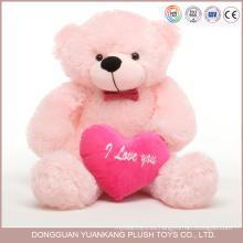 Recuerdo personalizado de San Valentín, 12 pulgadas Cute Pink Bear Teddy