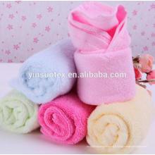 Serviette de toilette serviette de salive super doux 25x25cm serviette en bambou