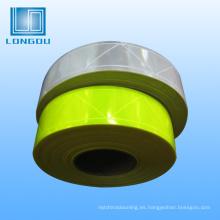 Tira reflectante de cinta de material de tela reflectante de Pvc