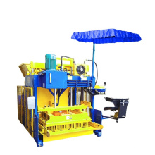 Ds best supplier hydraulic mobile brick making machine qmj-12A  for home business no need pallet 12pcs per mold