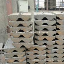 Высокомарганцевый стальной вкладыш для шаровой мельницы