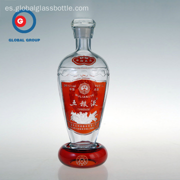 Botella de vidrio de licor chino Wuliangye