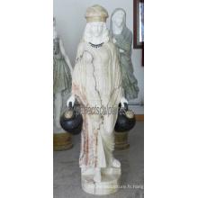 Statue en sculpture en marbre en sculpture sur marbre pour décoration de jardin (SY-C1287)