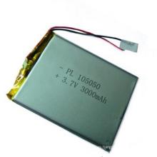 3.7V 3000mAh 105050 Batería del polímero del Li-ion Tamaño: 10X50X50m m