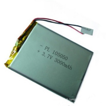Shenzhen Lipo Battery Lithium Polymer Battery Fabricant 3.7V 3000mAh 105050