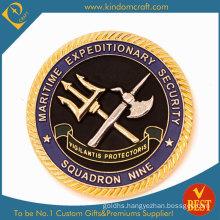 Custom OEM Die Casting Diamond Edge Souvenir Award Coin for Security