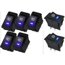 Car Auto Fog Blue LED Light Rocker Switch Dashboard Boat Switch 12V 35A